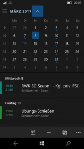 E-Mail für Kalenderapp