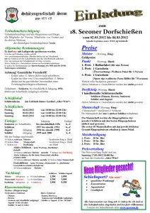 Einladung Dorfschießen 2012