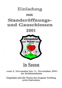 Einladung Gauschießen 2001