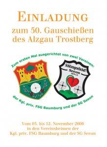 Einladung Gauschießen 2006