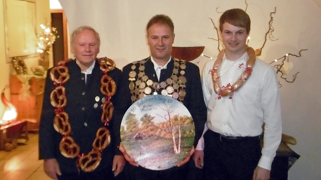 Könige von links nach rechts: Hermann Hofstetter, Michael Huber jun., Markus Meier