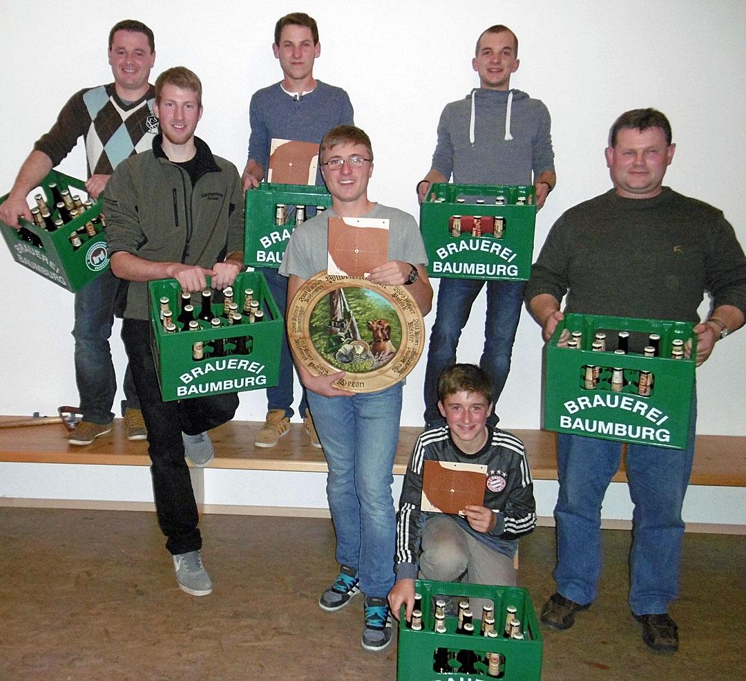 von links hinten: Sebastian Heinzmann, Rudi Kaltner jun., Marcus Kral vorne: Andreas Manzinger, Sebastian Brandstätter, Matthias Brandstätter, Stephan Neumeier
