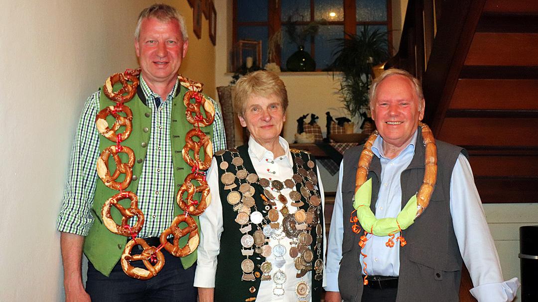 von links nach rechts: Ludwig Manzinger, Irmgard Raab und Hermann Hofstetter