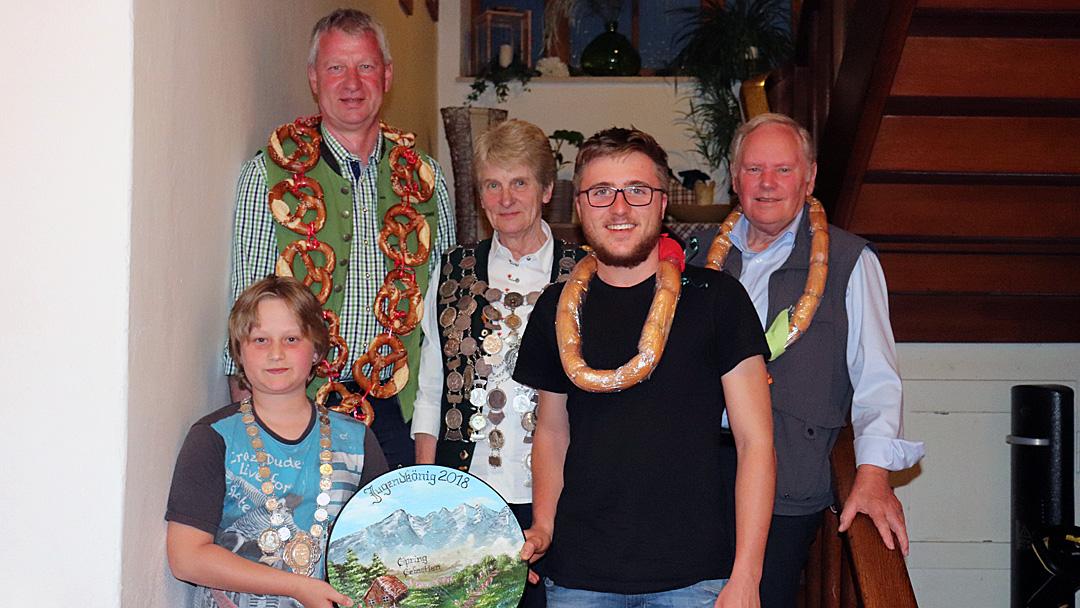 von links nach rechts: Sebastian Spring, Ludwig Manzinger, Irmgard Raab, Sebastian in Vertretung für Matthias Brandstätter und Hermann Hofstetter