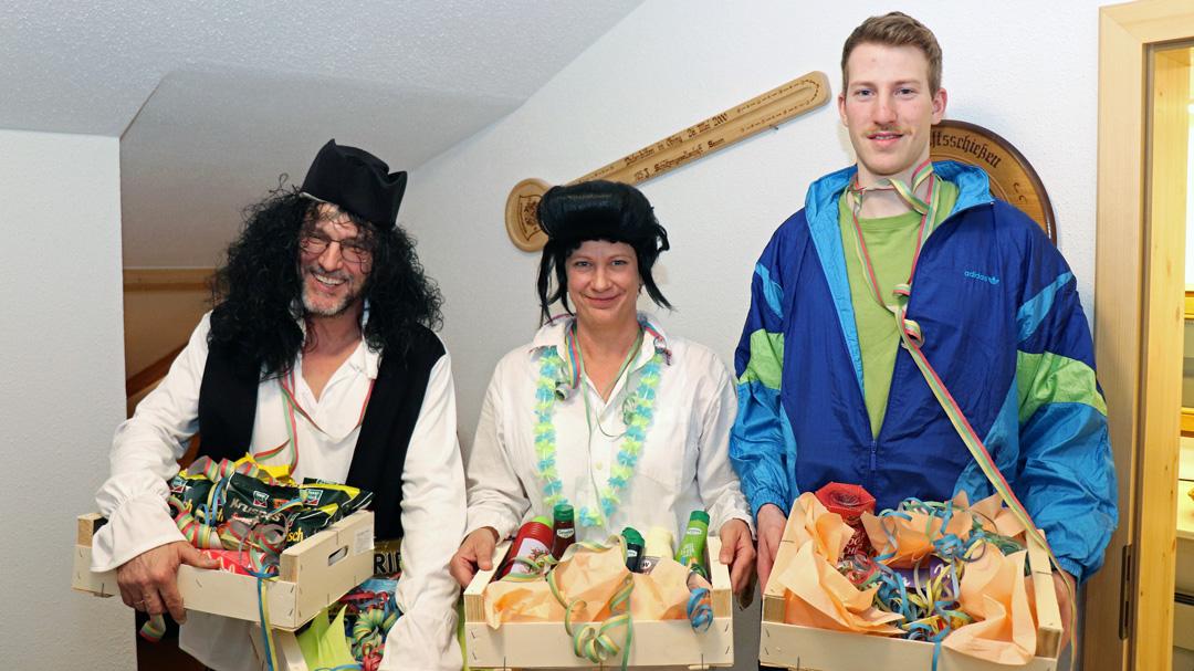 Faschingskönige: Von links nach rechts: Hans Wolfertstetter, Sonja Bartlweber und Andreas Manzinger