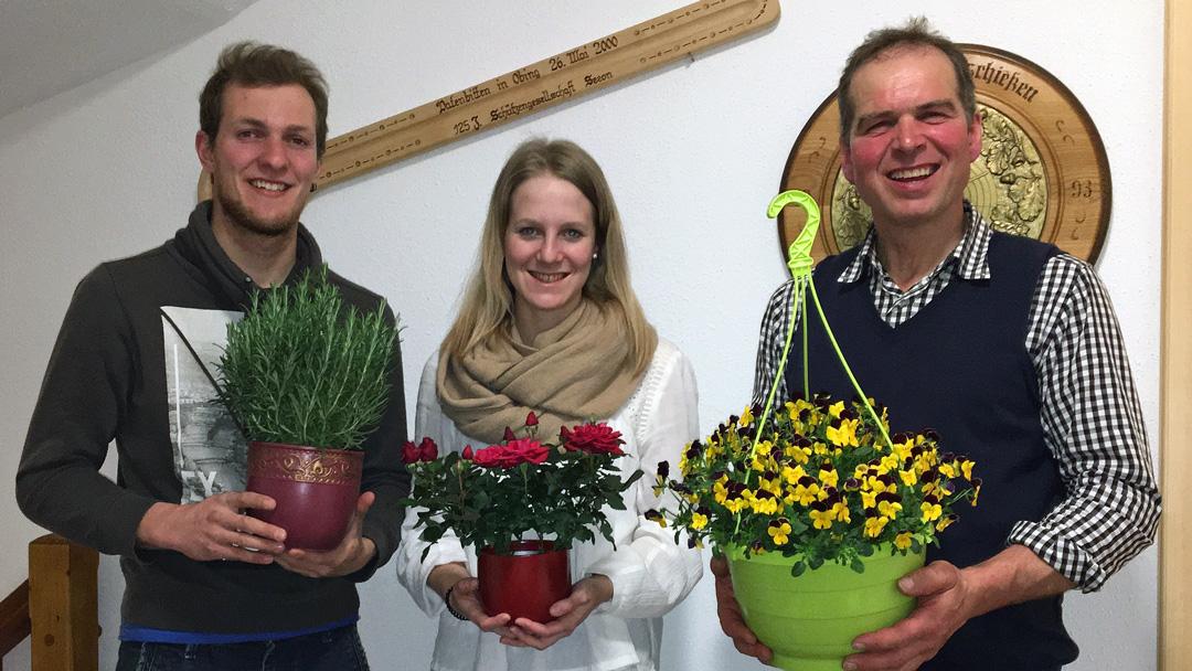 von links nach rechts: Florian Mair, Corinna Huber und Rudi Perreiter