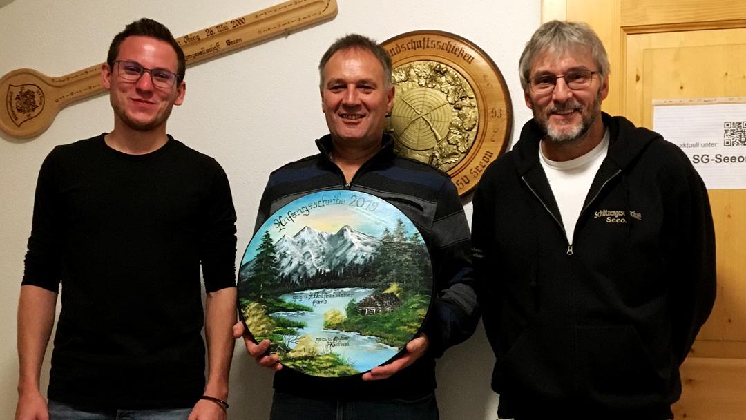 von links nach rechts: Rudi Kaltner jun., Michael Huber jun. und Hans Wolfertstetter