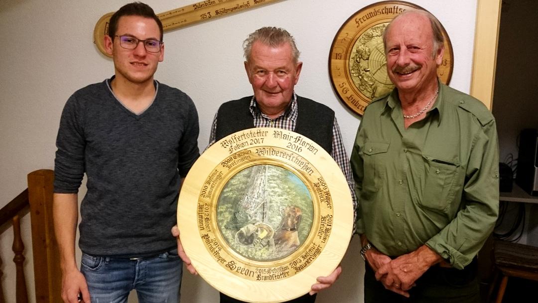 von links nach rechts: Rudi Kaltner jun., Michael Huber sen. und Franz Hofmann