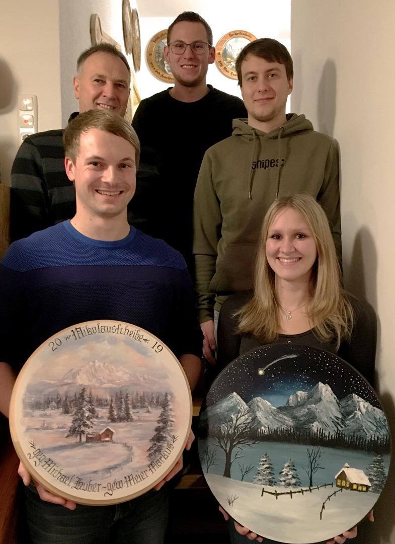 von links unten nach rechts oben: Markus Meier, Julia Wolfertstetter, Michael Huber, Rudi Kaltner jun. und Patrick Mayer