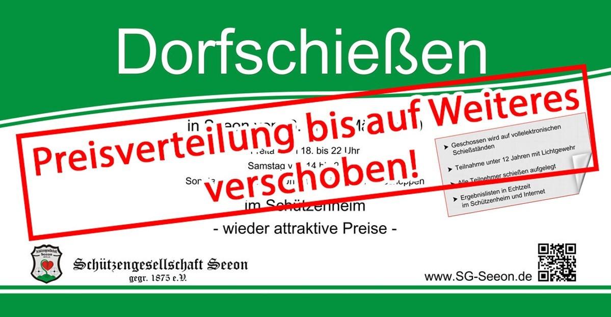 Bauzaunwerbung-Dorfschießen_2020_Preisverteilung verschoben